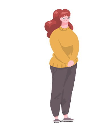 Cartoon image of a woman